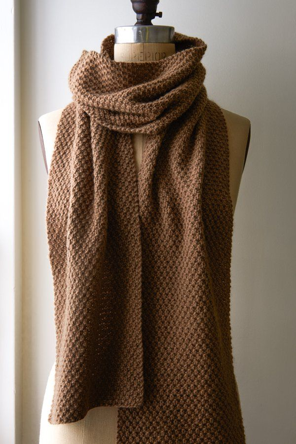 Double seed stitch scarf, purl bee. Co45. R1: K1, *p1, k1, rpt to ...