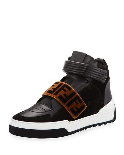 4455b7ee Fendi Zucca Grip-Strap High-Top Sneaker | Products in 2019 ...