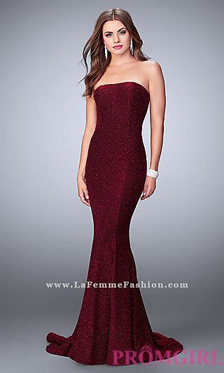 Strapless Sparkling Classic Prom Dress at PromGirl.com | ♥Love ...