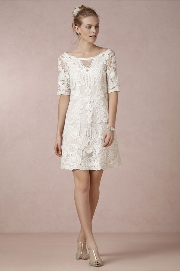 Get The Perfect Bohemian Bride Look With BHLDN Short Wedding DressesBritish