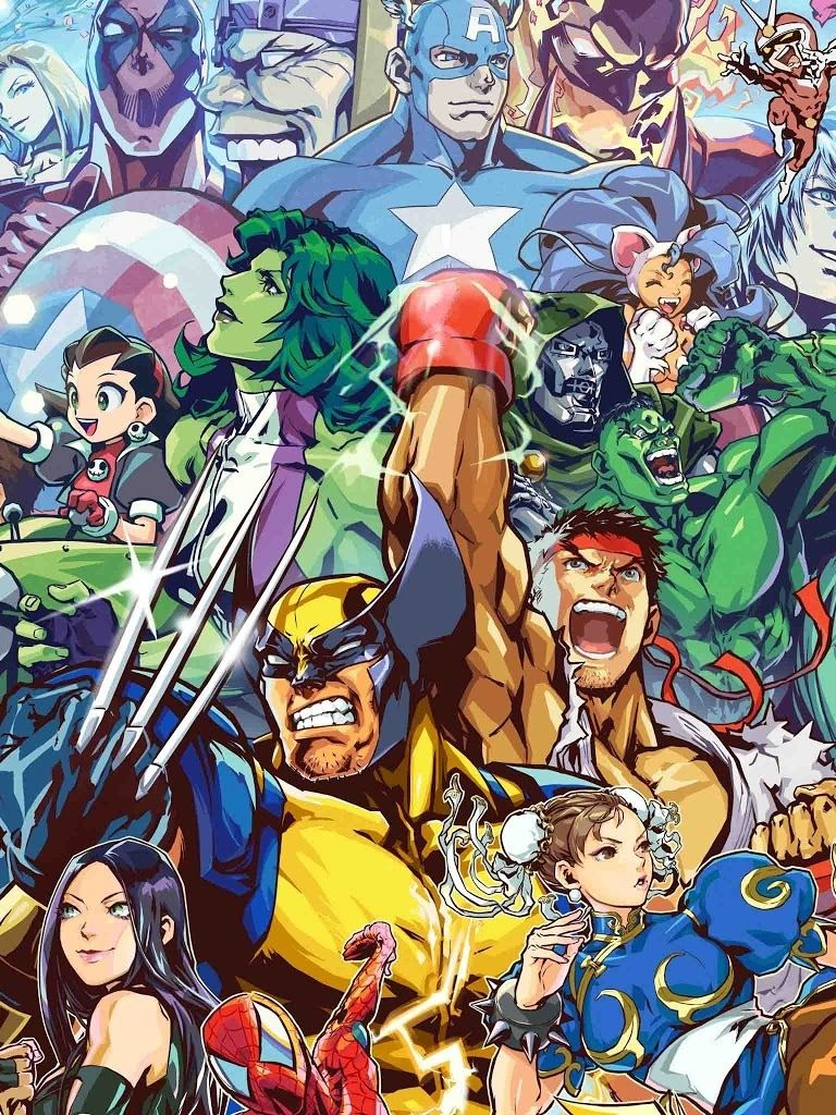 Marvel V Capcom Marvel Iphone Wallpaper Marvel Vs Capcom Marvel Vs