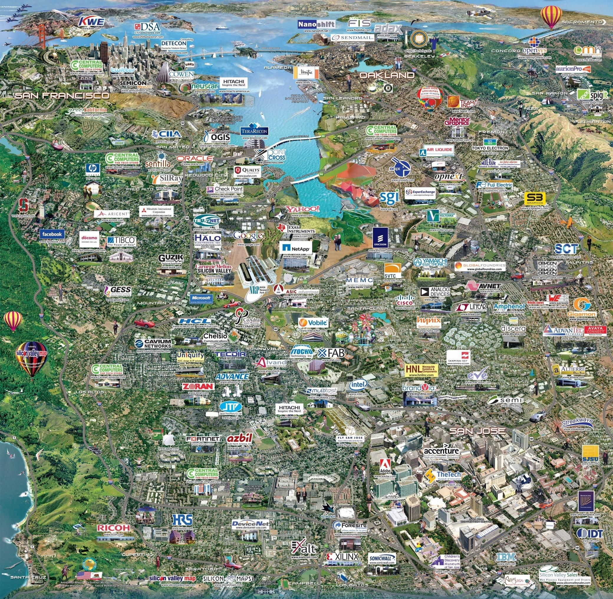 Tech Companies in Silicon Valley | United States in 2019 ... on san diego map, silicon hills map, napa county map, palo alto map, los angeles map, san jose map, san francisco map, bay area map, silicon beach map, east valley zip code map, san ramon valley map, santa barbara map, valley of mexico map, east bay map, silicon forest map, alameda county map, sacramento map, santa clara map, mountain view map, blossom valley map,