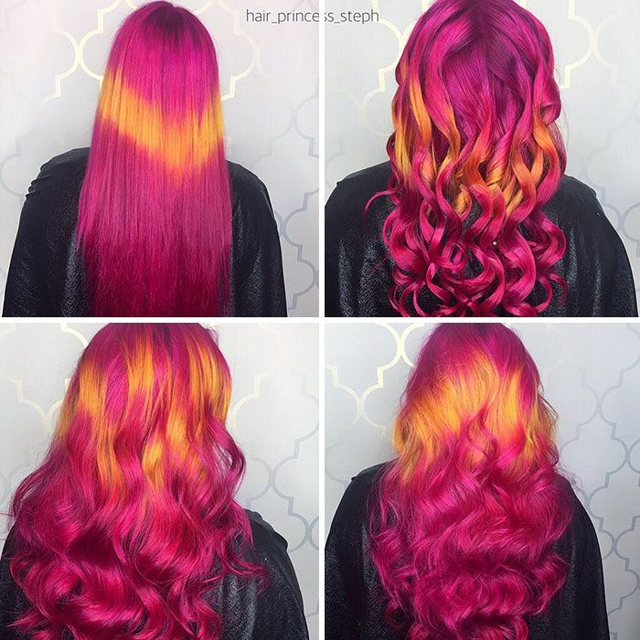 Shine Line Hair Is The Newest Trend Going Viral On Instagram Holographic Hair Different Hair Colors Cool Hair Color