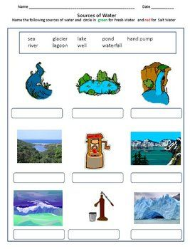 Air and Water - Worksheets for Grade 2 & 3 | science lesson ...