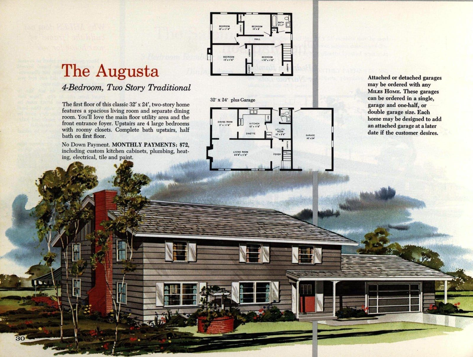 See 125 Vintage 60s Home Plans Used To Design Build Millions Of Mid Century Houses Across America House Plans Mid Century House Building Design