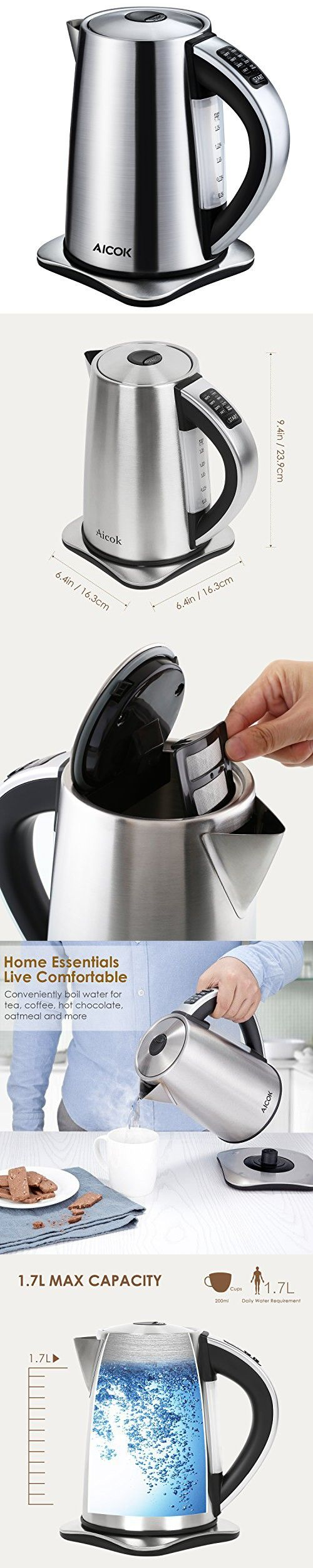 Electric Kettle Aicok 6-Temperature Control and Keep Warm Function ...