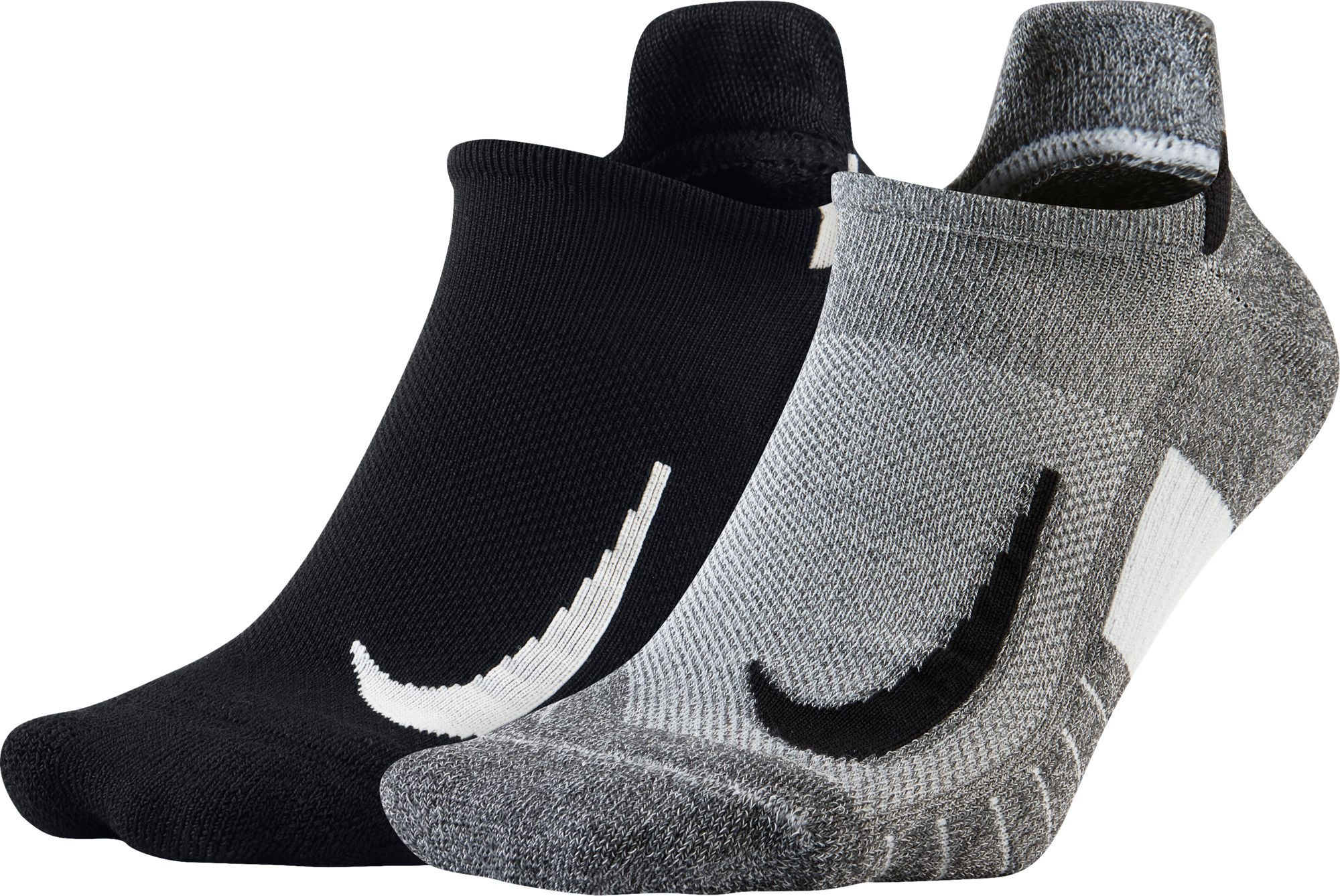 watch outlet online great fit Nike Running No-Show Socks 2-Pack, Size: Medium, Black ...
