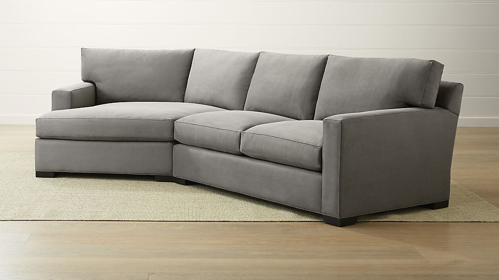 Axis Ii 2 Piece Left Arm Angled Chaise Sectional Sofa