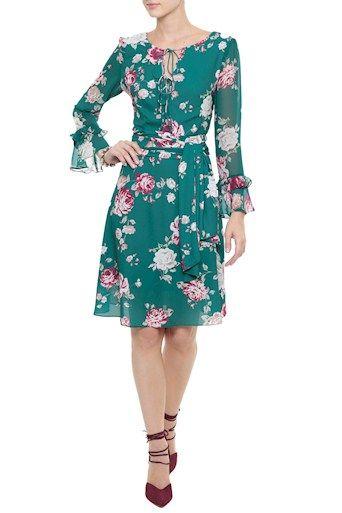 8feb63b9b Vestido Crepe Floral Audrey | DVESTIR in 2019 | Vestidos de estampas ...