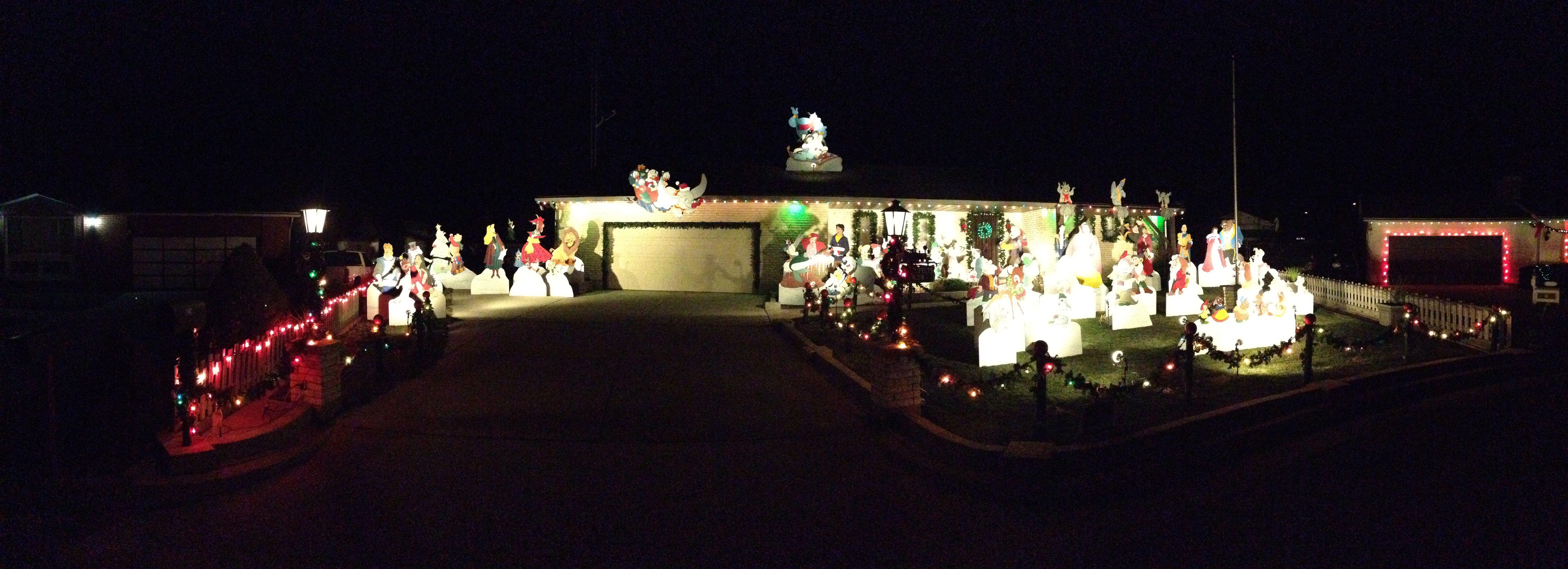 Disney Christmas Display In Brigham City, Ut