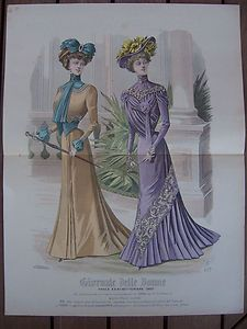 Outfits from september 1900 published in giornale delle donne italian magazine 1900 39 s - Diva e donne giornale ...