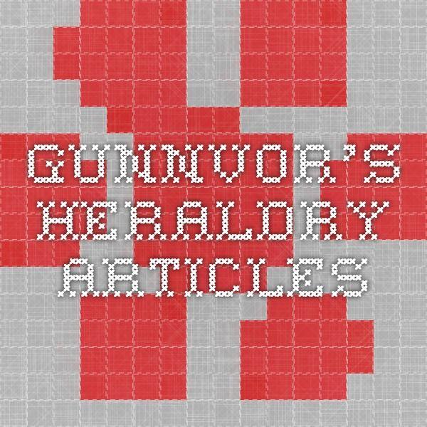 Gunnvor's Heraldry Articles incl rolls of arms
