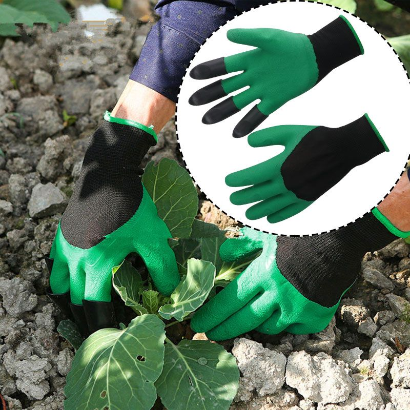 New Garden GENIE Gloves For Digging/&Planting With4 ABS Plastic Claws Gardening