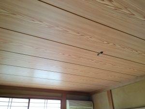 和室天井板張替 目透かし天井 リフォーム 古河市k様邸 和室 天井板
