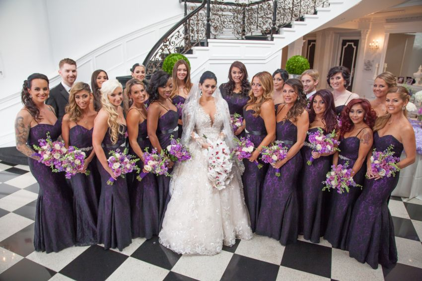 A Photo To Keep Forever Celebrity Wedding Dresses Purple Lace Bridesmaid Dresses Jwoww Wedding