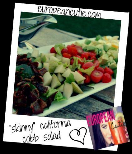 Here is a healthy version of the traditional california cobb salad..enjoy! ♥ http://europeancutie.blogspot.com/2013/04/skinny-california-cobb-salad.html