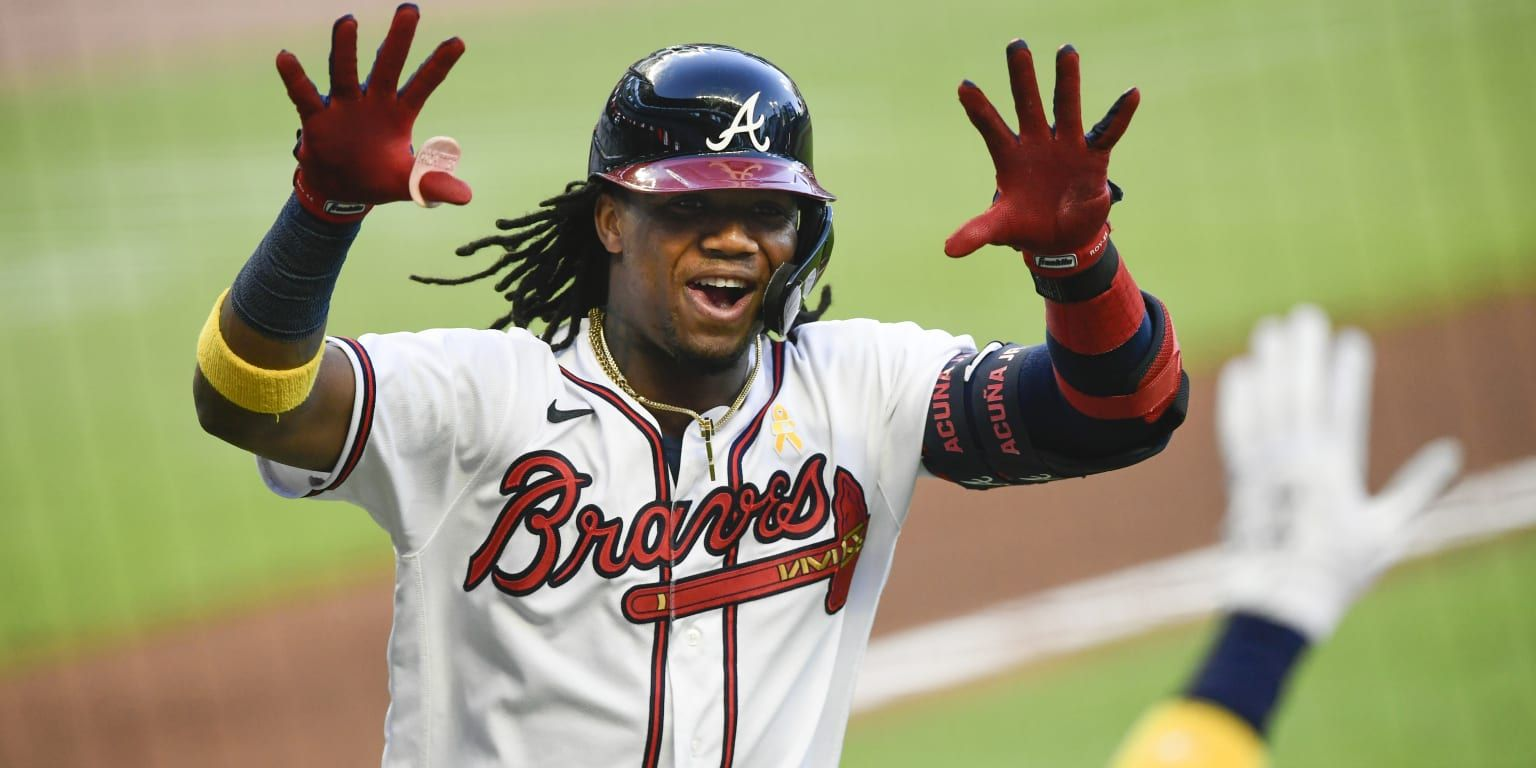 Ronald Acuna Jr Set A Braves Franchise Record When He Belted His 18th Career Leadoff Homer Against The Nationals On Saturda In 2020 The Outfield Atlanta Braves Braves