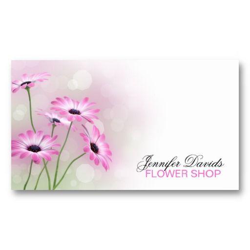 flowers  florist  flower shop business card template