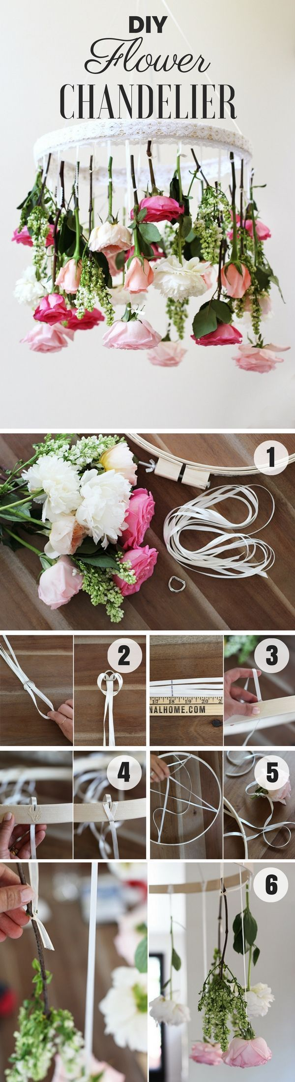 Check out how to make an easy shabby chic diy flower chandelier check out how to make an easy shabby chic diy flower chandelier homedecorideas arubaitofo Image collections