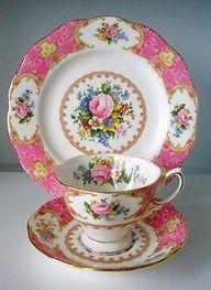 Royal Albert Servies Blauw.Lady Carlyle By Royal Albert Tea Serviesgoed Royal
