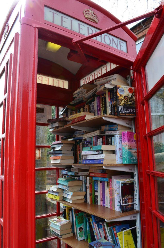 I Found A Book Exchange Telephone Box While Out On Walk Thought This Was Great Idea Imgur