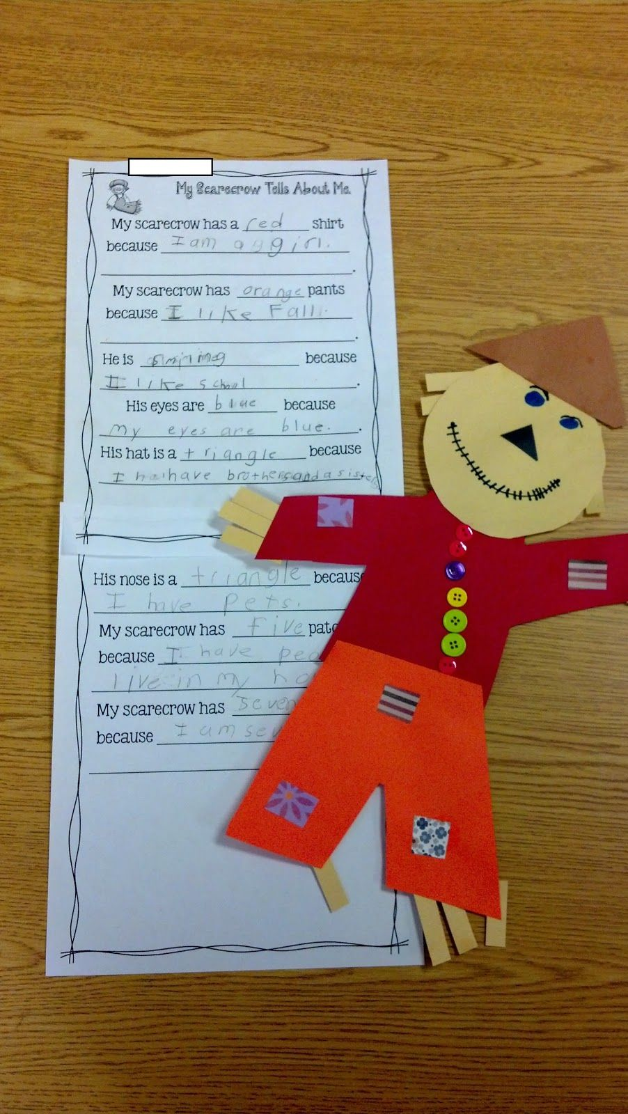 Fun in First Grade: Scarecrow Glyph and Writing | Top Teachers ...