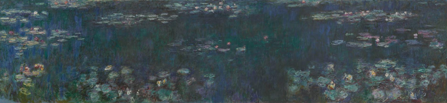 Claude Monet, Nilüferler, Yeşil Yansımalar, 1915-1926 dolayları, Musée de  l'Orangerie, Paris, Fransa. | Monet, Nilüferler, Yeşil