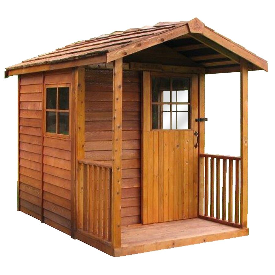 Great Cedarshed Gardeneru0027s Delight Gable Cedar Storage Shed (Common: 6 Ft X 12