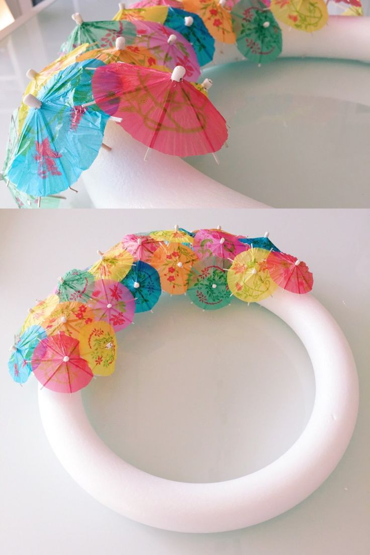 Photo of DIY tutorial: how to make your own umbrella wreath from paper. Perfect …