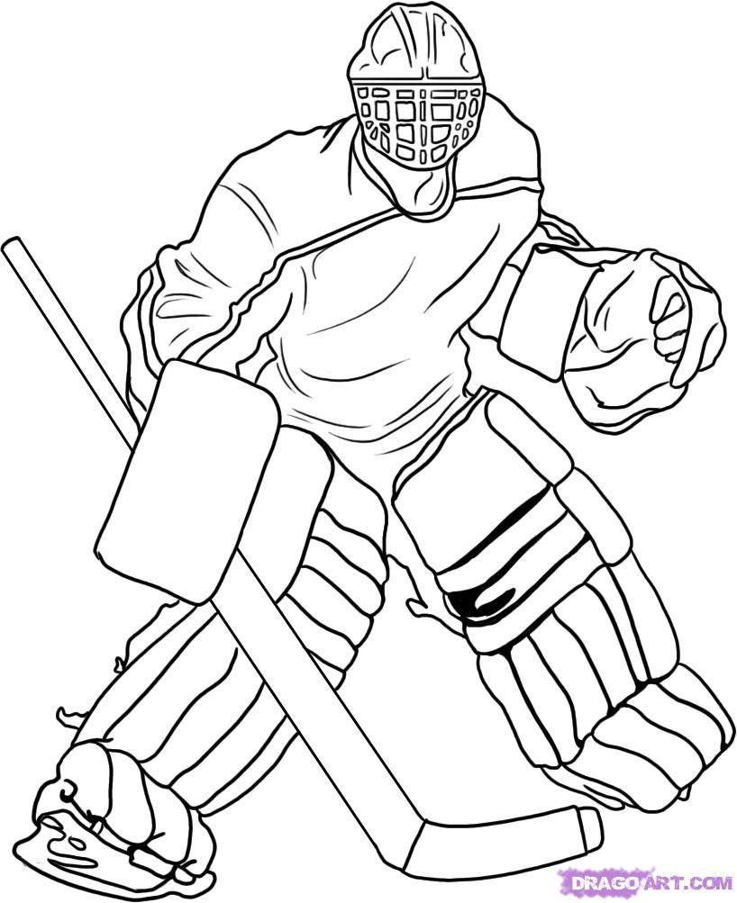 movement catches the ball hockey coloring pages for kids printable hockey coloring pages for kids - Coloring Pages Hockey Players Nhl