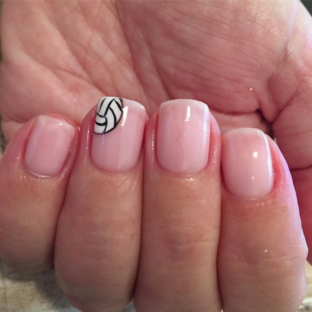 Volleyball Gals Rule Nailsbyjustine Volleyballgirls Volleyball Nailart Handpainted Volleyball Nails Volleyball Nail Art Basketball Nails