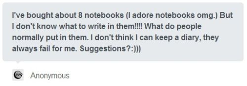 Ooooh I Love This Question Lots Of People Keep Journals With