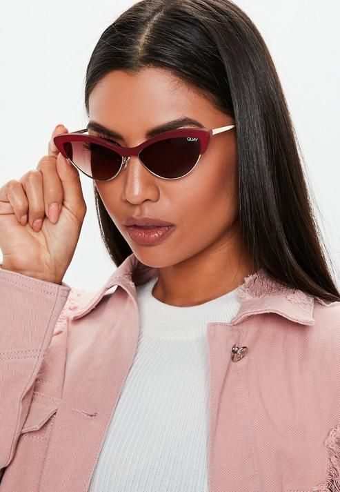54c3bd385123f Quay Australia X Finders Keepers All Night Red Sunglasses in 2019 ...