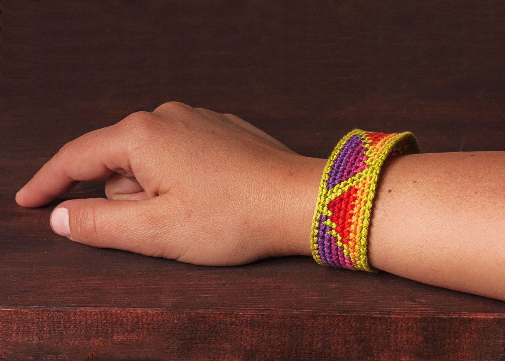 Tapestry crochet bracelets / Tapestry Häkeln! Auch für Armbänder ...