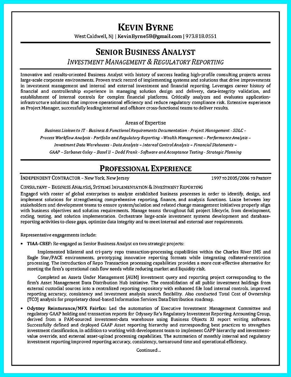 30 business systems analyst resume sample