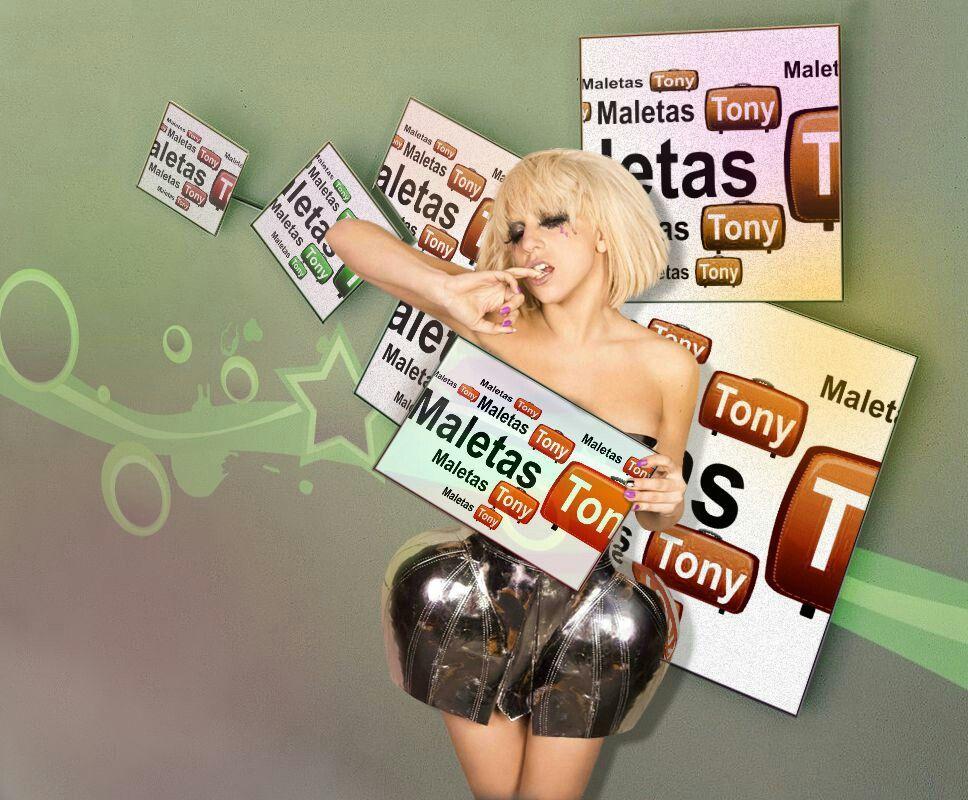 f4f7edf2c A Lady Gaga, también le gusta maletas tony | fotos Publicidad ...