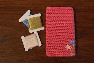 Crochet pattern iPhone case :D