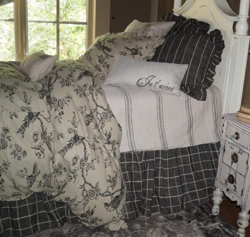 French Laundry Avalon Black Bird Toile Free Shipping No Sales