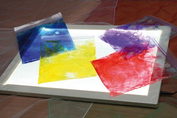 Ideas de utilización con la mesa luminosa Reggio, Reggio emilia - Trabajos Manuales