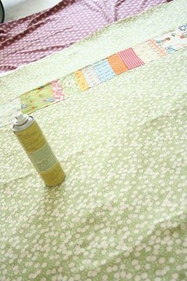 Steps to make a quilt from start to finish, including basting and quilting.  (Simple striped baby quilt)