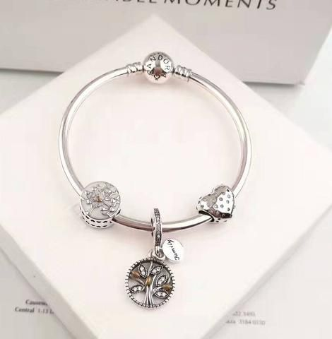 c2b65d449 Pandora open bangle bracelet with 1 love charm in 2019   Bracelet ...
