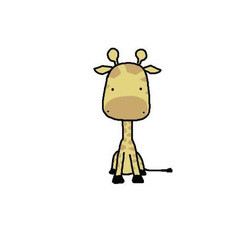 Cute giraffe drawing tumblr