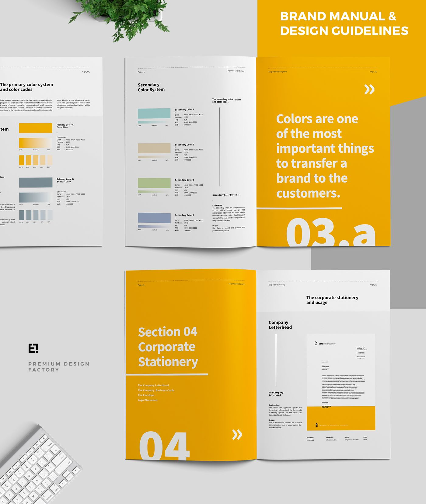Core Brand Manual & Guidelines on Behance | Valge paber