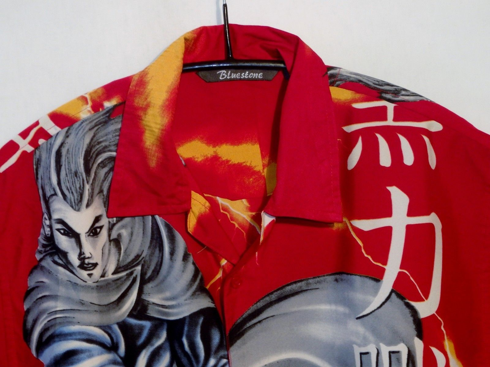 Bluestone samurai anime manga hawaiian shirt uk xl us l