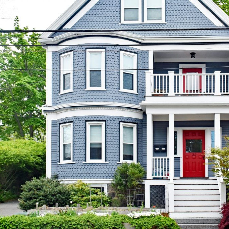Best Door Colors for Blue House