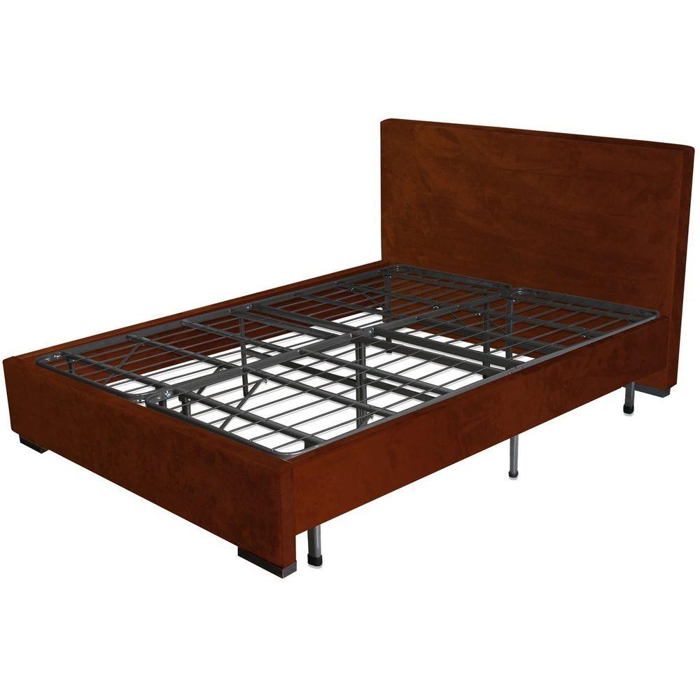 Queen Size Platform Metal Bed Frame Mattress Foundation Sleep ...
