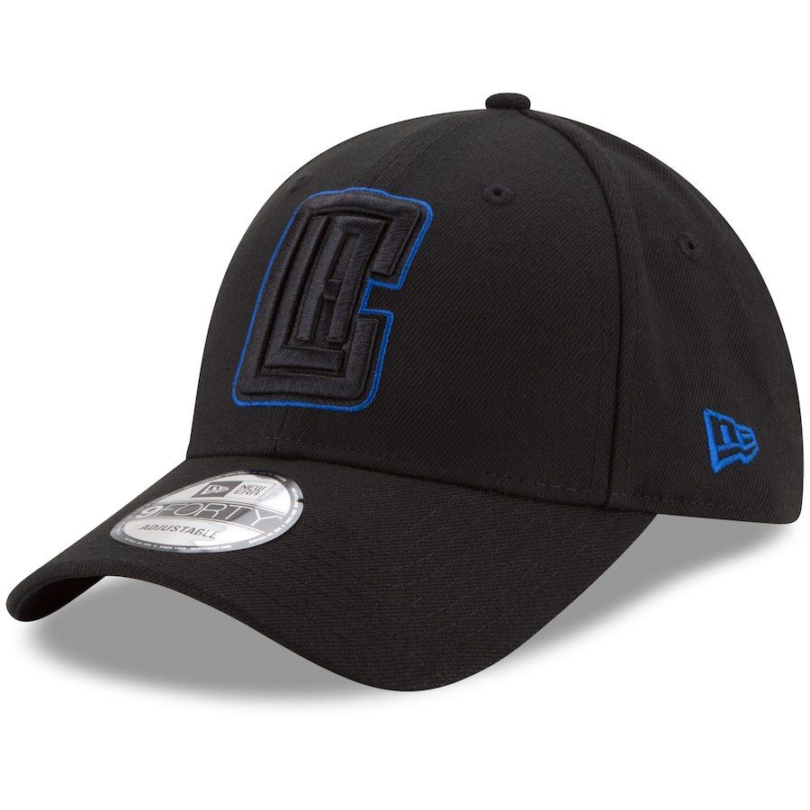 get new official factory price Men's LA Clippers New Era Black 9FORTY Adjustable Hat, Your Price ...