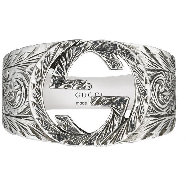 c359f902a Gucci Interlocking G Ring ($290) ❤ liked on Polyvore featuring men's  fashion, men's jewelry, men's rings, silver, mens engraved rings and gucci  mens rings