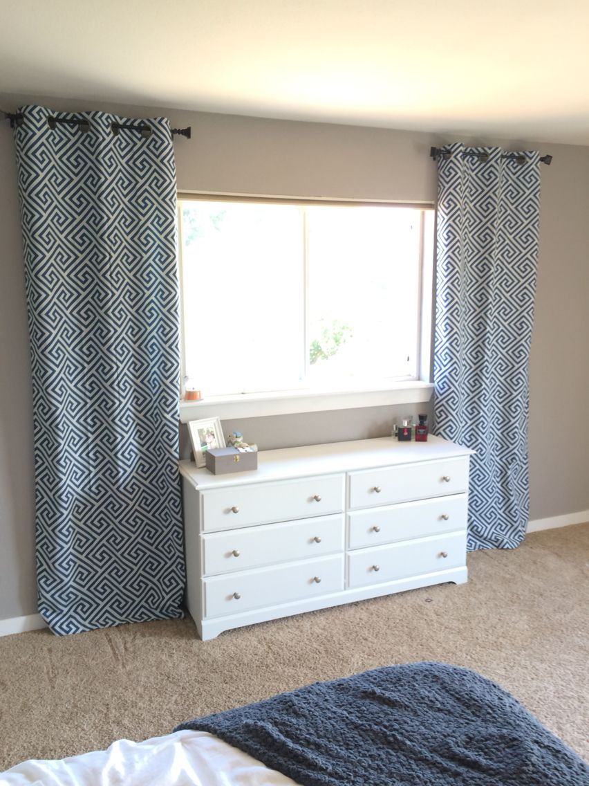 Curtains For Bed Or Dresser In Front Of Window Bedroom