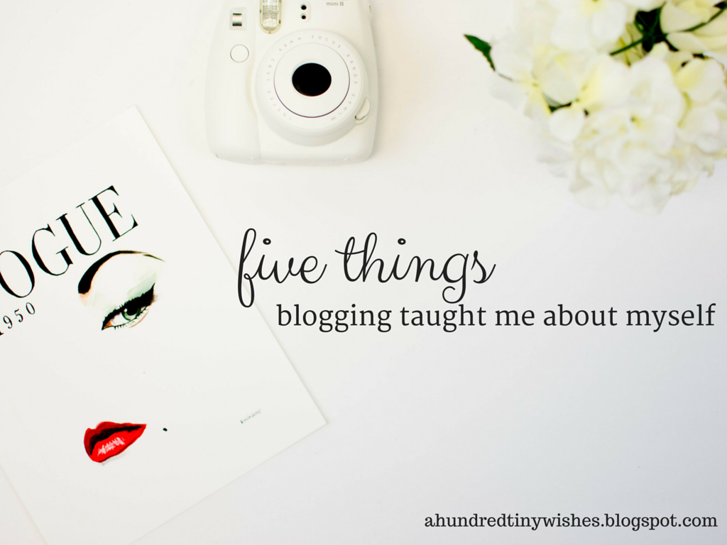 five things blogging taught me about myself